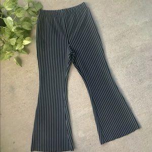 Pants - Hi Rise Pinstripe Flare Stretch Pants